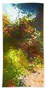 In The Garden Beach Towel by Pamela Cooper