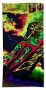 In The Kaleidoscopic Clutches Of Books Beach Towel