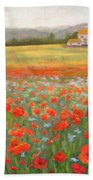 In The Poppy Field Beach Towel