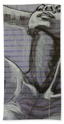 In The Shower - Portrait Of A Woman Beach Towel