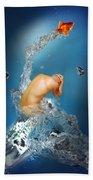 In The Water Beach Towel by Mark Ashkenazi
