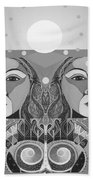 In Unity And Harmony In Grayscale Beach Towel