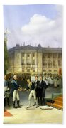 Inauguration Of A Monument In Memory Of Louis Xvi 1754-93 By Charles X 1757-1836 At The Place De La Beach Towel