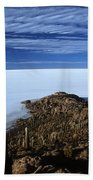 Incahuasi Island And Salar De Uyuni Beach Towel