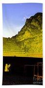 Incan Ruins Sacred Valley Peru Beach Towel