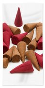 Incense Cones Beach Towel