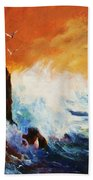 Incoming Squall Beach Towel
