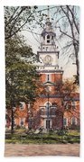 Independence Hall 1900 Beach Towel