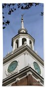 Independence Hall Bell Tower Beach Towel