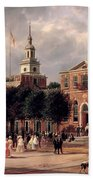 Independence Hall In Philadelphia Beach Towel