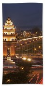 Independence Monument, Cambodia Beach Towel