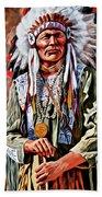 Indian Chief Beach Towel