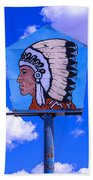 Indian Chief Sign Beach Towel