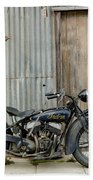 Indian Chout At The Old Okains Bay Garage 2 Beach Towel