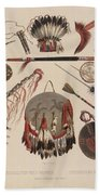 Indian Implements And Arms Beach Towel