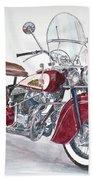 Indian Motorcycle Beach Towel