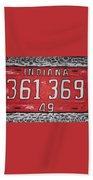 Indiana 1949 License Platee Beach Towel