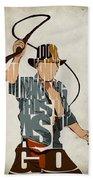 Indiana Jones - Harrison Ford Beach Towel by Ayse Deniz