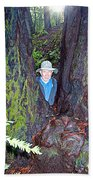 Indiana Jones In Armstrong Redwoods State Preserve Near Guerneville-ca Beach Towel