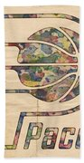 Indiana Pacers Poster Art Beach Towel