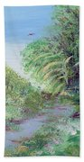 Indiana Spring Afternoon By The Creek Beach Towel