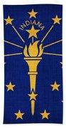 Indiana State Flag Beach Towel