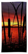 Indiana Sunset Beach Towel by Benjamin Yeager