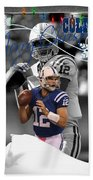Indianapolis Colts Christmas Card Beach Towel