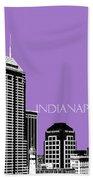 Indianapolis Indiana Skyline - Violet Beach Towel