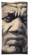 Indio Indian Black And White Oil Painting Beach Towel