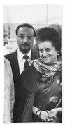 Indira Gandhi At Jfk Airport Beach Towel