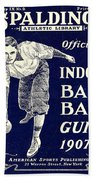 Indoor Base Ball Guide 1907 Beach Towel by American Sports Publishing