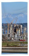 Industrial Refinery Beach Towel