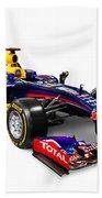 Infinity Red Bull Rb9 Formula 1 Race Car Beach Towel