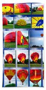 Inflation Hot Air Balloon Beach Sheet