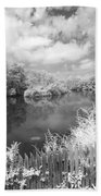 Infrared Mill Pond Beach Towel