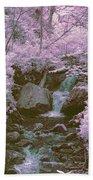 Infrared Mountain Stream Beach Towel