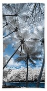 Infrared Palm Trees On The Coast Beach Towel