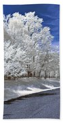 Infrared Road Beach Towel