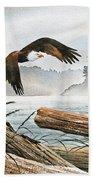 Inland Sea Eagle Beach Towel
