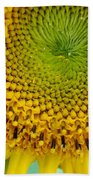 Inner Peace Forms Within This Sweet Yellow Sunflower Beach Sheet