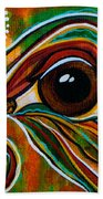 Inner Strength Spirit Eye Beach Towel