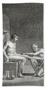Inside An Egyptian Bathhouse, C.1820s Beach Towel