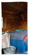 Inside Savage River Cabin In Denali Np-ak   Beach Towel