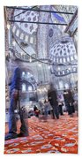 Inside The Blue Mosque Beach Towel
