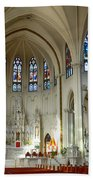 Inside The Cathedral Basilica Of The Immaculate Conception 1 Beach Towel