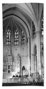 Inside The Cathedral Basilica Of The Immaculate Conception 1 Bw Beach Towel