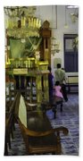 Inside The Historic Jewish Synagogue In Cochin Beach Towel