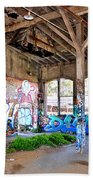 Inside The Old Train Roundhouse At Bayshore Near San Francisco And The Cow Palace II Beach Towel