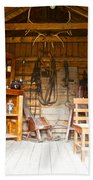 Inside The Real Sam Mcgee's Cabin In Macbride Museum In Whitehorse-yk Beach Towel